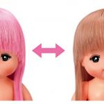 メルちゃんの髪の毛の色、普段からピンク色で戻らなくなる?